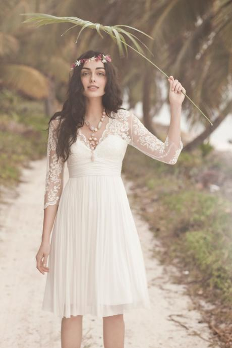 Short Lace Bridal Dresses